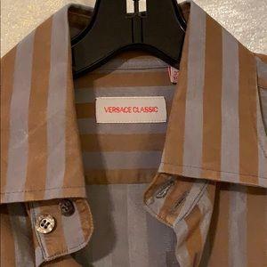 Versace Long Sleeve button front dress shirt